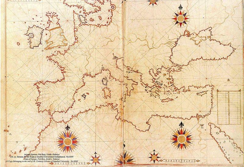 Senovinis Pirio Reiso žemėlapis