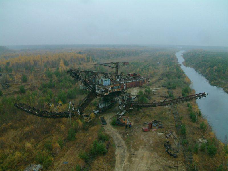 Apleista fosfatų kasykla Rusijoje