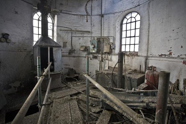 Apleista švino gamykla Anglijoje