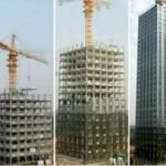 30 aukštų viešbutis pastatytas per 15 dienų