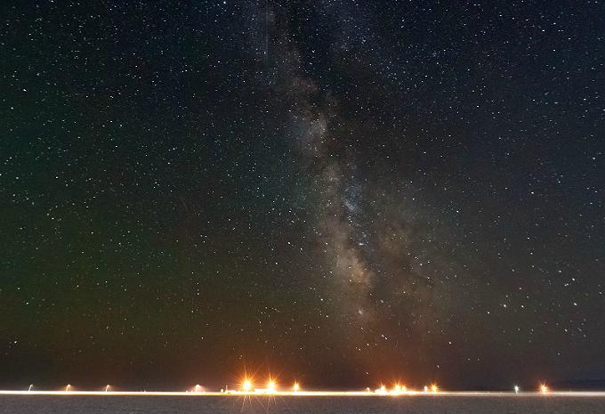 Žvaigždėtas dangus 360 laipsnių kampu
