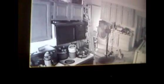 Saugos kamera nufilmavo vaiduoklį