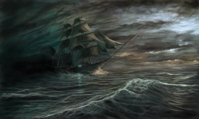 laivai vaiduokliai juroje