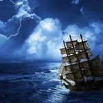 Trejus metus pradingęs laivas atsirado lyg niekur nieko
