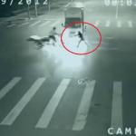 """Tiesa apie video kuriame """"Angelas išgelbėjo dviratininką"""""""