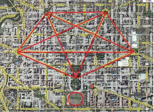 vasingtono miesto pentagrama