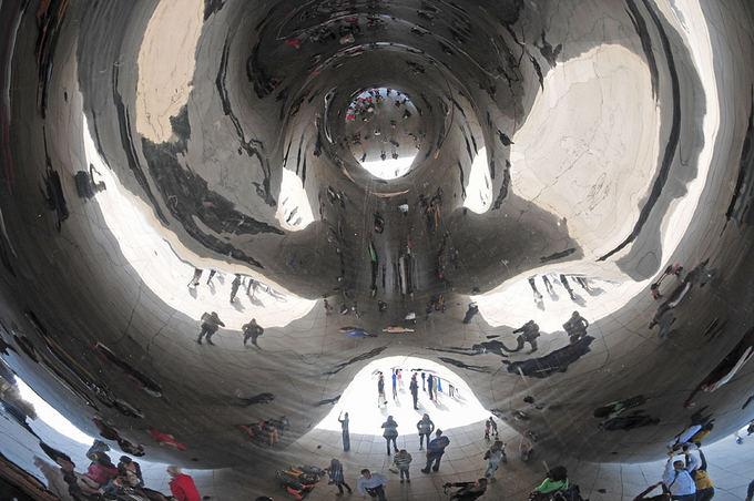 Veidrodžių mistika: ką matytume patekę į sferinio veidrodžio vidų?