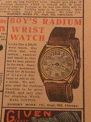 Laikrodis su radžio ciferblatu