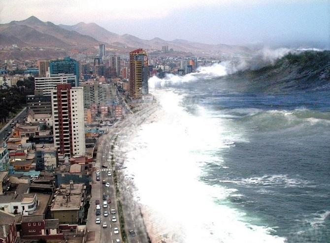 240 m aukščio cunamio bangos Žemėje – ne tokia jau retenybė
