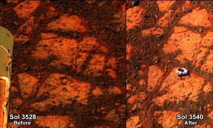 Mokslininkai išsprendė mįslingai Marse atsiradusios uolienos mįslę