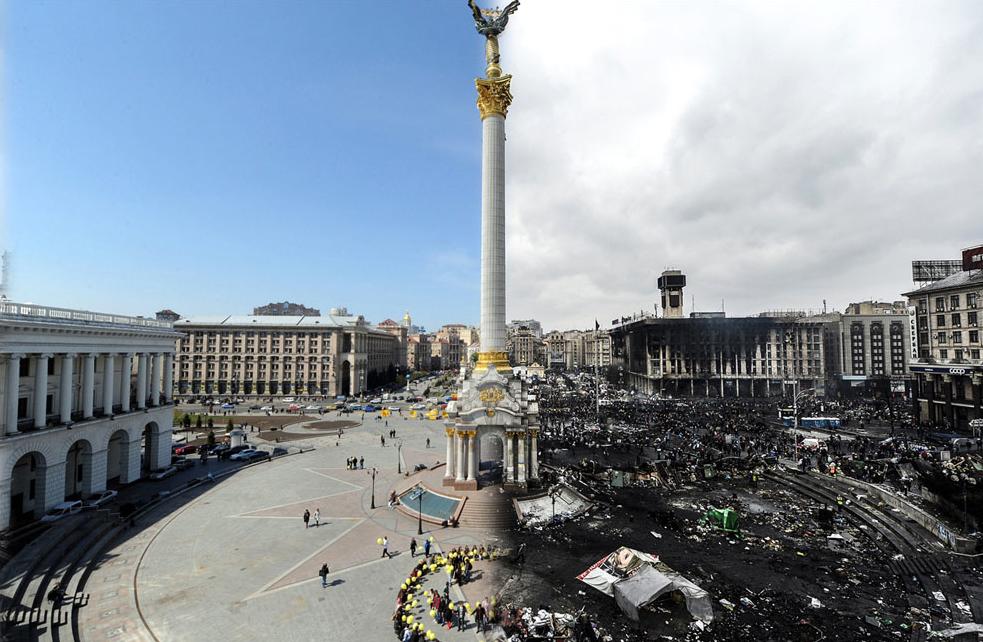 Kijevas – prieš ir po protestų