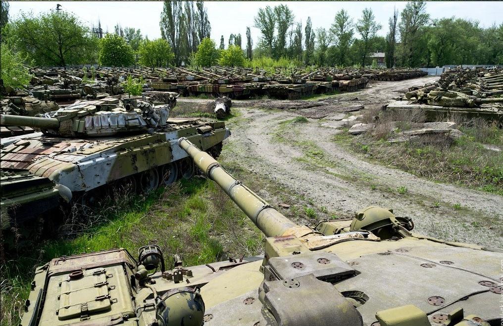 Ukrainos tankų kapinės