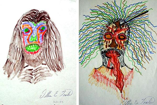 Raktas į serijinių žudikų pasąmonę – jų piešiniai