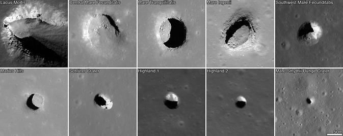 Daugiau kaip 200 kol kas nežinomos kilmės kraterių yra ir Mėnulyje