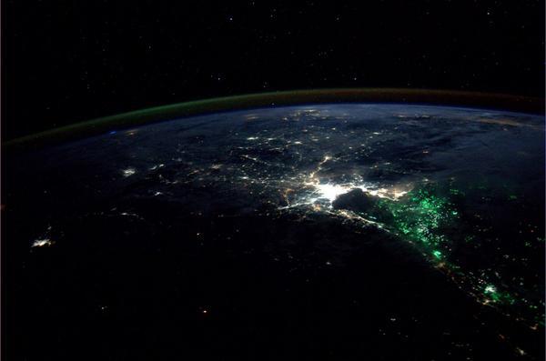 Iš kosmoso užfiksuotas keistas žalsvas švytėjimas prie Tailando