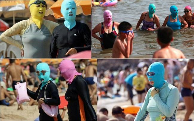 """Naujausias Kinijos mados klyksmas – """"veido bikinis"""""""
