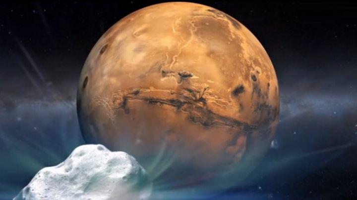 Marse aptikta skysto vandens
