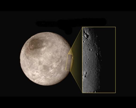 Naujausias akibrokštas Plutono palydove Charone