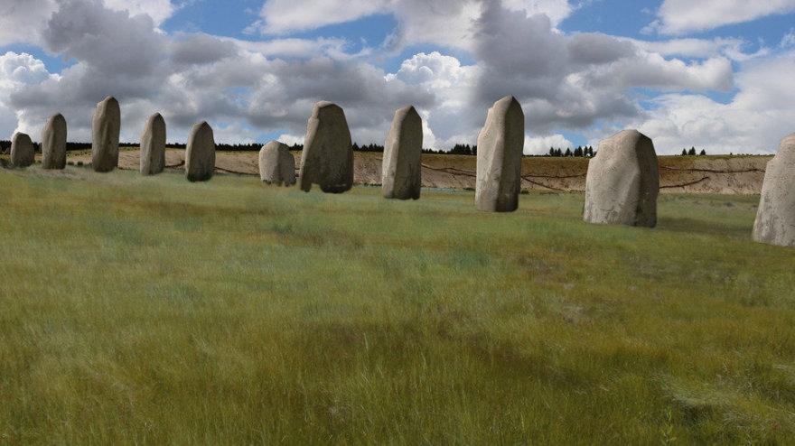 Greta Stouhendžo aptiktas dar vienas, gerokai senesnis statinys iš akmenų
