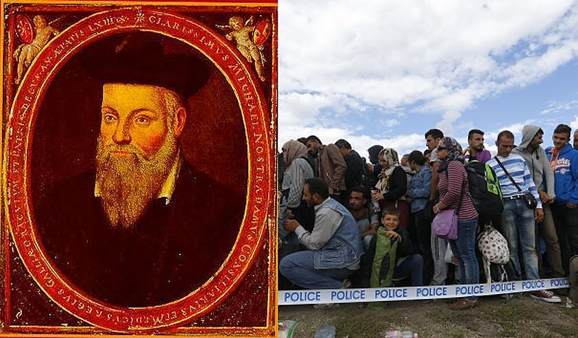Nostradamas išpranašavo pražūtingą pabėgėlių antplūdį į Europą?