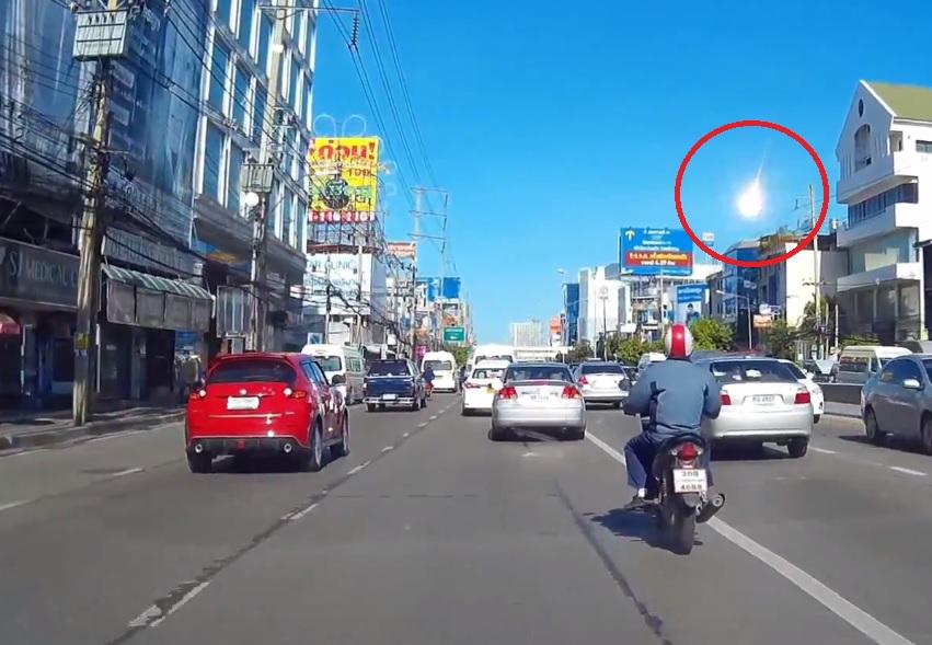 Virš Bankoko – paslaptingas degantis objektas iš dangaus